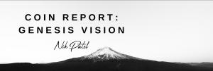 Coin Report #31: Genesis Vision