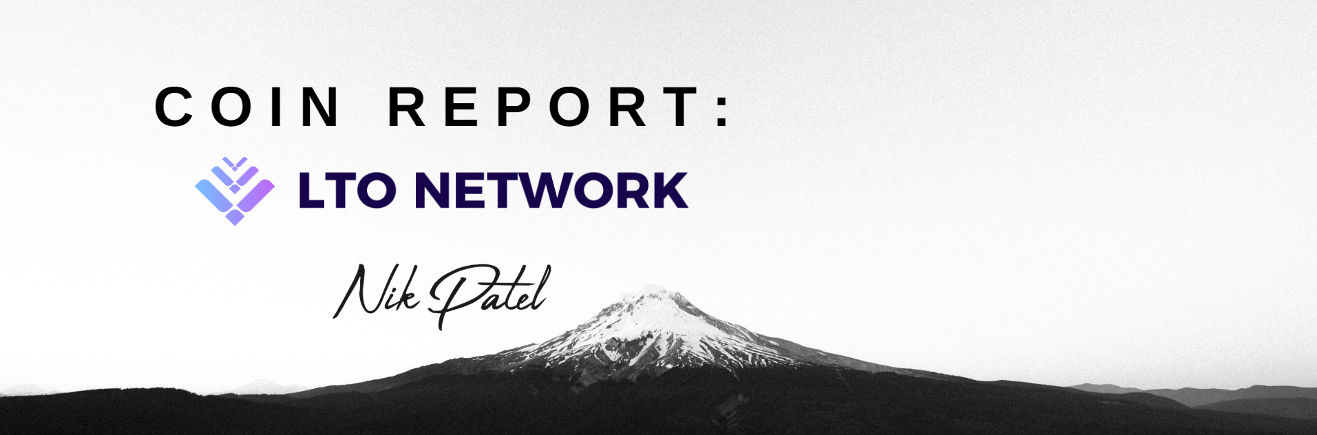 Coin Report #33: LTO Network