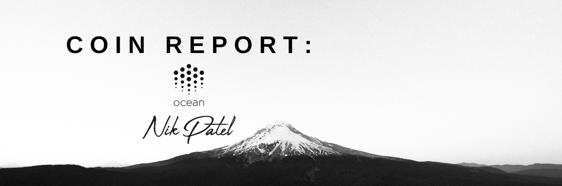 Coin Report #37: Ocean Protocol