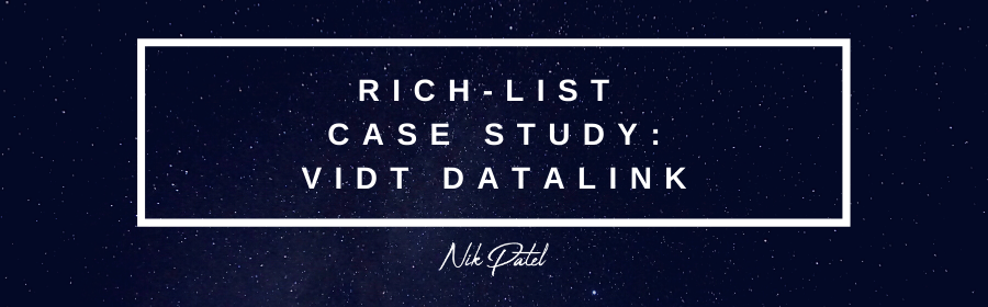Rich-List Case Study: VIDT Datalink #3